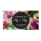 Wedding Reception Mini Champagne Label Floral