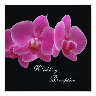 Wedding Reception Only Invitation -- Orchids