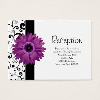 Wedding Reception Purple Gerbera Daisy w/ Scroll