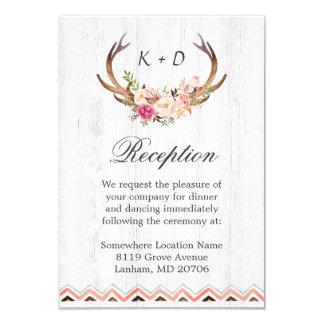 Wedding Reception Rustic Antler Wood Boho Decor 9 Cm X 13 Cm Invitation Card