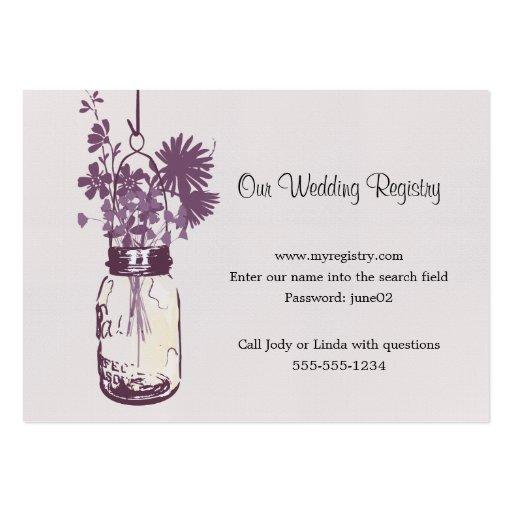 Wedding registry card mason jar wildflowers zazzle for Top 10 wedding registry stores