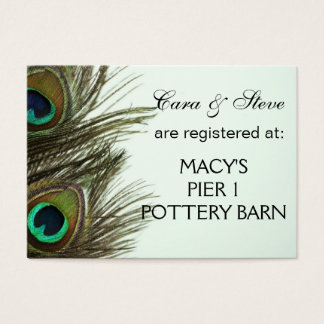Wedding Registry Peacock Feather Cards