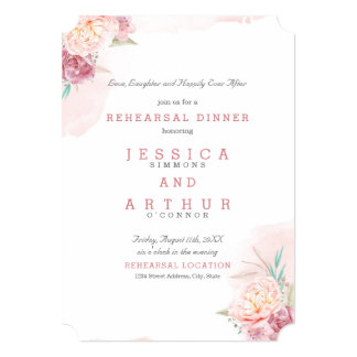 Wedding Rehearsal Dinner | Blush and Blooms Card