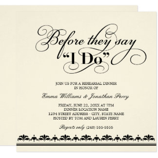 Wedding Rehearsal Dinner Invitation | Wedding Vows