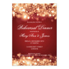 Wedding Rehearsal Dinner Sparkling Lights Gold Card