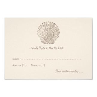 Wedding Reply Card 1   Ivory Seashell 9 Cm X 13 Cm Invitation Card