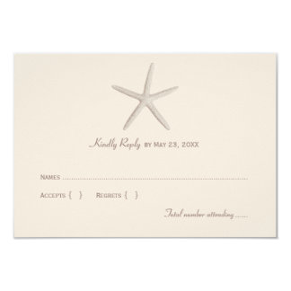 Wedding Reply Card 1 | Neutral Starfish Personalized Announcement
