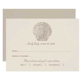 Wedding Reply Card 2   Ivory Seashell