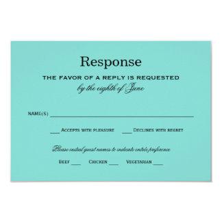 Wedding Response Card | Aqua Blue 9 Cm X 13 Cm Invitation Card