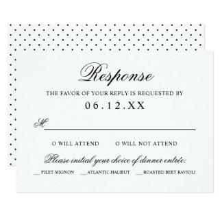 Wedding Response Card | Black Classic Elegance