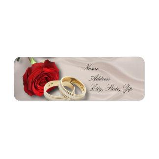 Wedding return address return address label