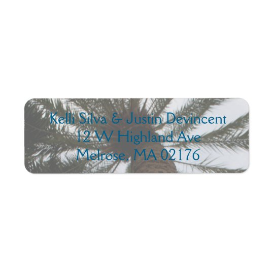 Wedding Return Address Labels - Palm Tree II