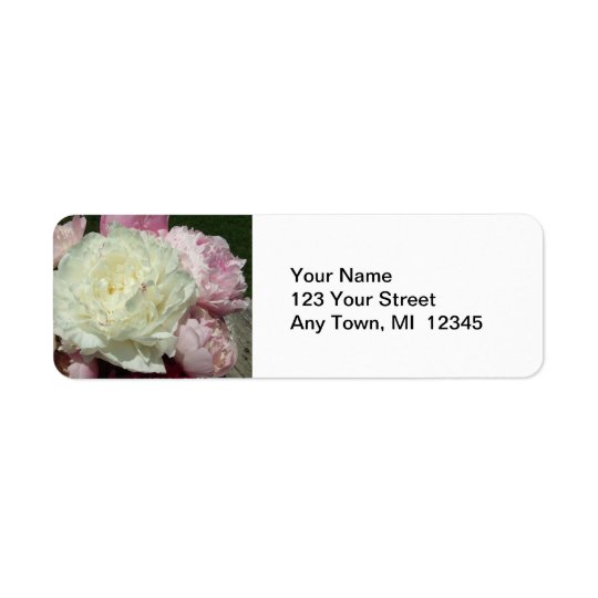 Wedding  Return Address Labels Peonies