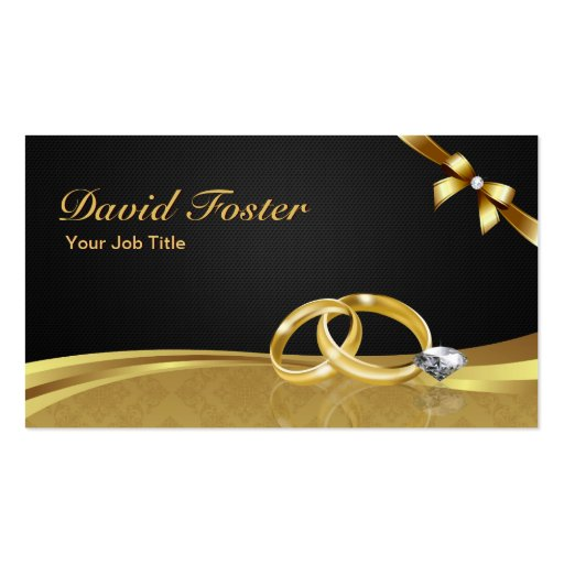Wedding Ring Diamond Gold Jeweler Jewelry Jeweller Business Card Template