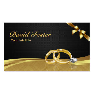 Wedding Ring Diamond Gold Jeweler Jewelry Jeweller Pack Of Standard Business Cards