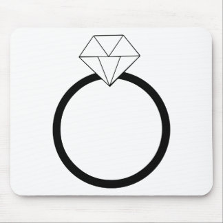 Wedding Ring Mouse Pad