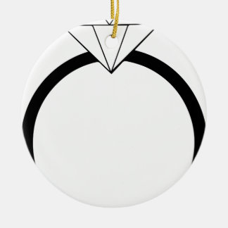Wedding Ring Round Ceramic Decoration