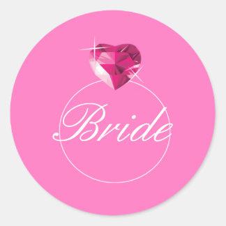Wedding Ring Round Sticker