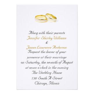 Wedding Ring Wedding Invitation