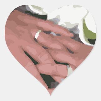 Wedding Rings1 Heart Sticker