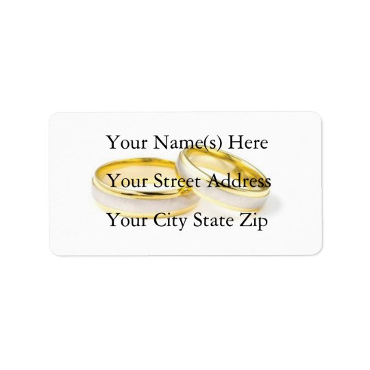 Wedding Rings Address Label
