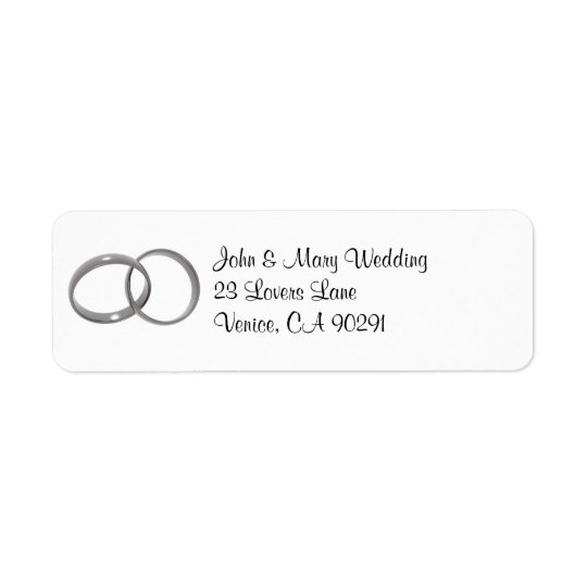 wedding rings address label
