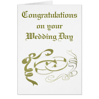 Wedding Rings and Bows Art Greeting Card