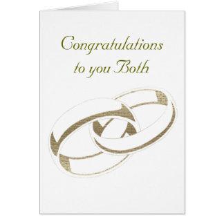 Wedding Rings Art Greeting Card