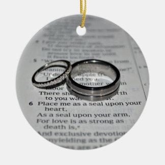Wedding Rings Bible Verse Ornament
