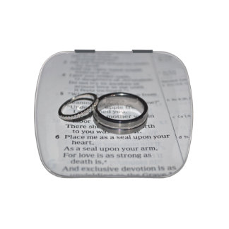 Wedding Rings Candy Tin