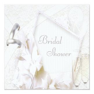 Wedding Rings & Champagne Glasses Bridal Shower Card