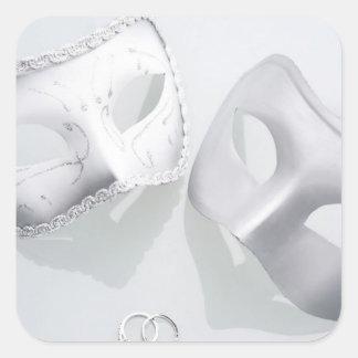 Wedding Rings Drama Square Sticker