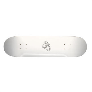 Wedding Rings/Engagement Rings Skate Board
