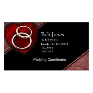 Wedding Rings Heart Set Business Card Template
