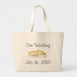 Wedding Rings Large Tote Bag