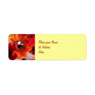Wedding Rings Mailing Label Return Address Label