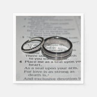 Wedding Rings Napkin Set Paper Serviettes