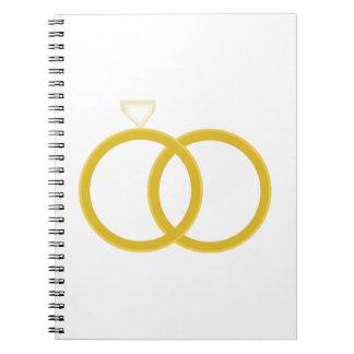 Wedding Rings Note Books