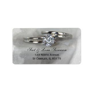 Wedding Rings on Gray Address Labels