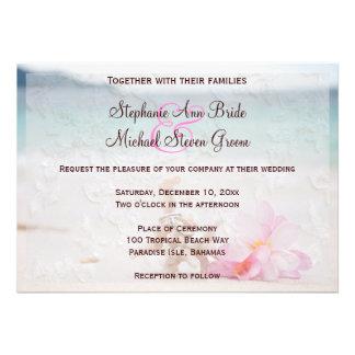 Wedding Rings On The Beach Wedding Invitation