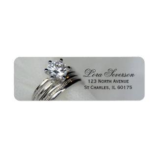 Wedding Rings Return Address Return Address Label