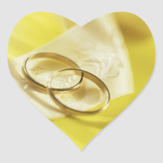 Wedding Rings Ribbon Wedding Hearts Heart Sticker
