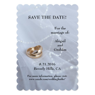 Wedding Rings Save The Date Invitation