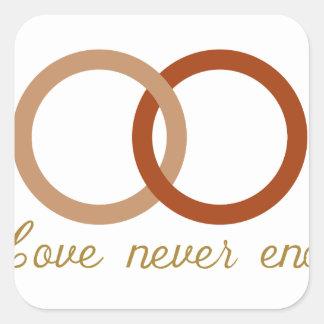 Wedding Rings Square Sticker