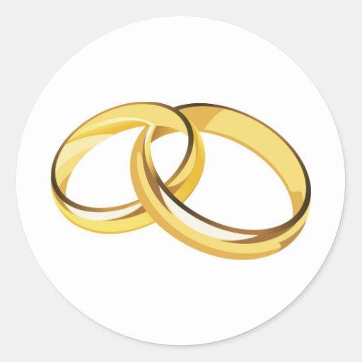 wedding rings round sticker