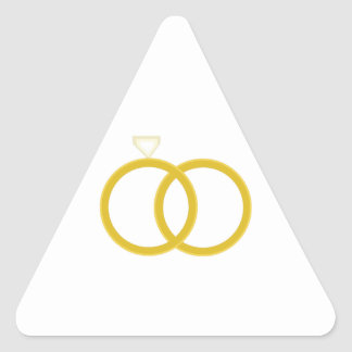 Wedding Rings Triangle Sticker