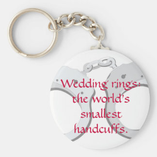 Wedding rings:  the world's smallest handcuffs key ring