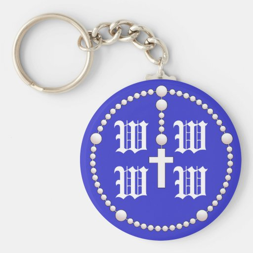 Wedding Rosary Monogram Keychain