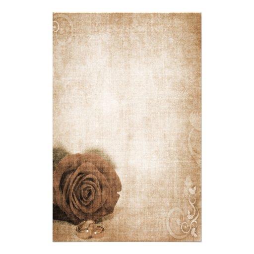 Wedding Rose Vintage Personalized Stationery