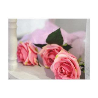 Wedding roses canvas print